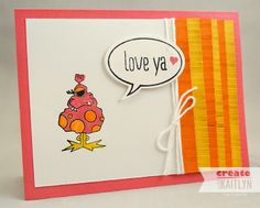 Create with Kaitlyn: Monster Love | Another cute and simple (CAS) card using the Monstermaniacs and Just Sayin' stamp sets from Stampin' Up!