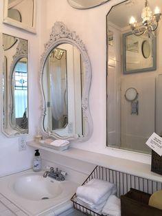 You can still make a small farmhouse bathroom look beautiful! A Seriously Charming Tiny Farmhouse - Cedar Hill Farmhouse