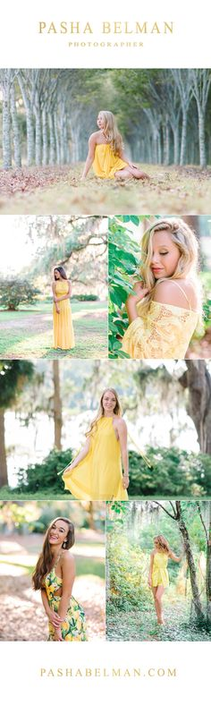Yellow Dress Ideas for Pasha Belman Photography Senior Girls traveling to Charleston or Myrtle Beach for their Senior Pics