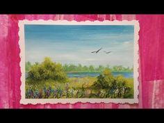 Рисуем пейзаж гуашью - Уроки рисования для начинающих