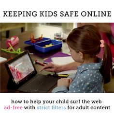 A simple way to make kids web searches 100% ad-free and have strict filters for adult content!