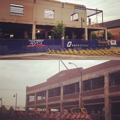 "Seeing some progress on our ""downtown renos to watch."" How exciting! #tulsa #downtowntulsa #renovations #revitalization"