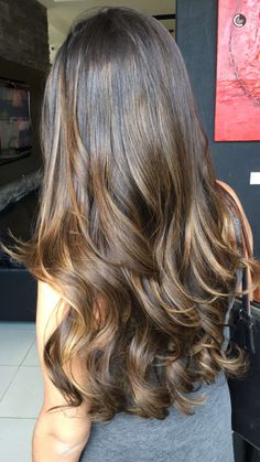 27 ideas hair goals brunette caramel balayage for 2019 Hair Color Balayage, Hair Highlights, Bayalage, Subtle Balayage, Cabelo Ombre Hair, Cabello Hair, Hair Color And Cut, Gorgeous Hair, Pretty Hairstyles