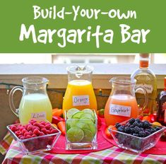 Make Your Own Margarita Bar- Great For Parties!! #Food #Drink #Trusper #Tip