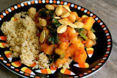 Pumpkin and Kale Stew- a healthy fall recipe!