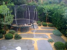 peter fudge - trampoline on terrace