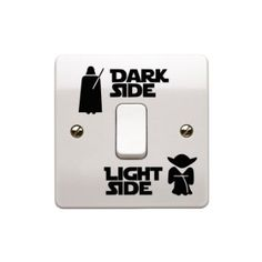 """Lot de stickers Star Wars Interrupteur en vinyle Art """"clair/foncé côté Enfant Interrupteur de lumière de la pièce en vinyle noir 2,5 cm x 5,5 cm.. uksellingsuppliers"""