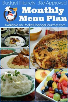 April Monthly Menu Plan | Budget Friendly :: Kid Approved | Available on PocketChangeGourmet.com