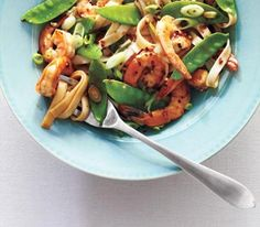 Shrimp Lo Mein -  changed a few things.  Prepped the sauce separately versus adding ingredients to pan one at a time. Added a 1/2 tablespoon more oyster a tablespoon of graded ginger and 1/2 teaspoon of red pepper flakes.  Chopped garlic added to the veggies.  Less salt on the veggies.  Used 1/4 cup of left over stock from cooking the noodles versus water.  Pinch of salt/pepper lemon juice on the shrimp before cooking