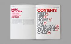 FYI Magazine | Table of Contents #typography