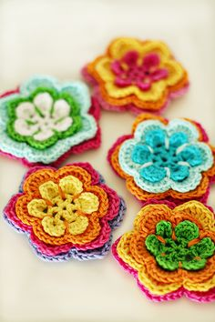 layered crochet flowers