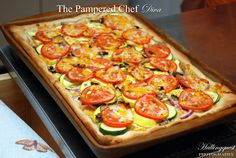 The Pampered Chef 3 Cheese Garden Pizza prepared by The Pampered Chef Diva Janaria Hallingquest & Director Yolanda Easton.
