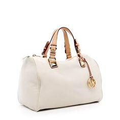 Michael Kors Grayson Large Satchel Vanilla-$149