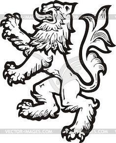 Heraldic lion - vector clipart