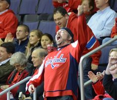 And I was THERE!  What a moment!  <3  I entered the Pin a Moment to Win a Moment contest with my top moment of the 2013-14 Capitals season. #ScarletCapsMoments