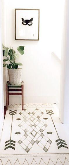 DIY tribal wall rug