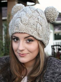 Hats & Gloves Knit Patterns - ANNIE'S SIGNATURE DESIGNS: Bae Hat Knit Pattern $6.99
