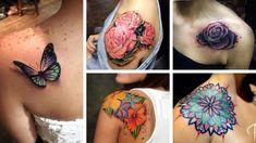 Tatuagem Feminina no Ombro » 100+ Fotos e Ideias Inspiradoras 2019 Watercolor Tattoo, Tattoos, Stylish Tattoo, Get A Tattoo, Tattoo Ideas, Girl Shoulder Tattoos, Tatto Designs, Watercolor Tattoos, Irezumi