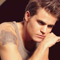 Stefan. I want to know the story behind Paul Wesley getting this tattoo, I love that he has it lol