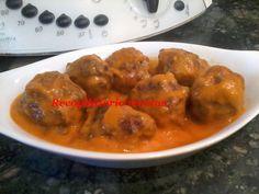 Recopilatorio de recetas : Albóndigas de ternera  en salsa de verduras en the...