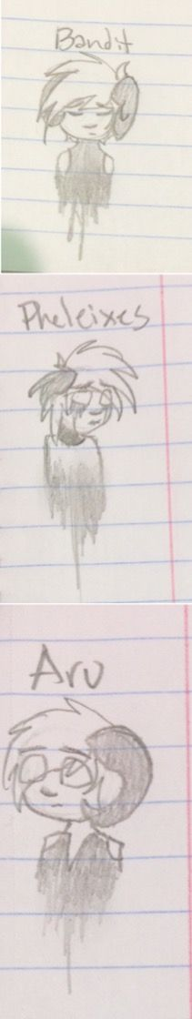 More of my stupid school doodles I kinda tried to do them in @DthSntncIsABird 's style but I'm pretty sure I failed