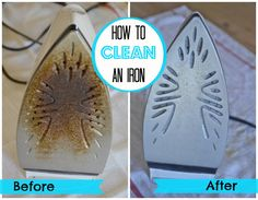Turns out cleaning the built up gunk from your clothes iron is really that simple. Nothing special required and it's almost as easy as it looks.