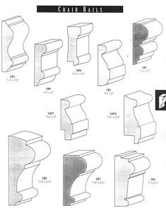different types of chair rail                                                                                                                                                                                 More #ChairRail