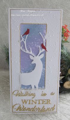 Good morning everyone, Well I`m carrying on making Christmas cards.ready for I purchased DL size envelopes last year and decided. Christmas Cards 2017, Xmas Cards, Advent, Winter Cards, Handmade Christmas, I Card, Cardmaking, Paper Art, Card Ideas