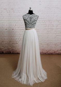 Backless Wedding Dress Sexy Wedding Dress Lace by LaceBridal