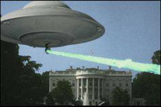 Earth vs. the Flying Saucers (1956) The alien saucers have now opened fire in the vicinity of the White House and Capitol building!  http://scififilmfiesta.blogspot.com.au/2015/01/earth-vs-flying-saucers-1956.html