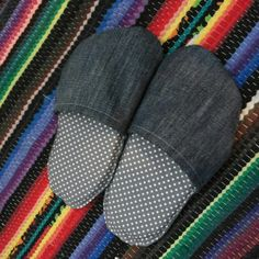 Recycled denim slippers