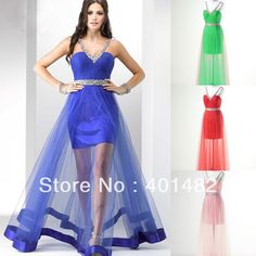 New Style Free Shipping In Stock Tulle V Neck Beading Sheer Overlay Prom Dress-in Prom Dresses from Apparel & Accessories on Aliexpress.com $149.00
