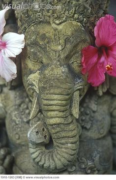 Ganesh with flowers