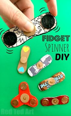 How to Make a Fidget Spinner DIY. Fidget Spinner DIY - how to make a fidget spinners. If the Hand Spinner Fidget Toy craze has hit your home.. and you either can't or won't buy one of the kids.. or maybe your fidget spinner is stuck in the post somewhere.. why not have a go at this DIY Fidget Spinner craft. It really costs just pennies to make and is ALMOST as good as the real thing. Great Summer Craft too!