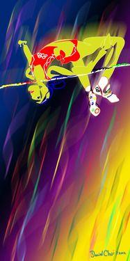 """Saatchi Online Artist Daniel Chui; Digital, """"High Jumper"""" #art"""
