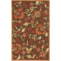 Safavieh Blossom Collection BLM861A Handmade Brown and Multi Wool Area Rug, 8 feet by 10 feet (8′ x 10′) #handmade Safavieh's Blossom Collection evokes the beauty of nature in its modern, floral patterns. These rugs bring modern elegance to any room in your home. These rugs are each handmade from 100% pure, premium wool, and employ modern hand-tufting techniques for added durability. These rugs feature intricate, floral designs and fresh, modern colors. Each rug has a dense, soft pil..