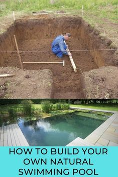 Swimming Pool Pond, Natural Swimming Ponds, My Pool, Piscina Rectangular, Cottage Garden Design, Painting Concrete, Small Backyard Pools, Home On The Range, Patio Makeover