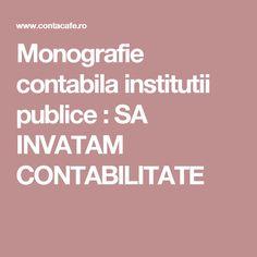 Monografie contabila institutii publice : SA INVATAM CONTABILITATE