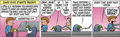 Pearls before Swine. A new Comic i've started reading. I feel this way about customers who try to get into Best Buy before we open.... Shoot just above the head.