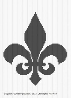fleur de lis cross stitch pattern free | Afghans Patterns Crocheting & Knitting Needlecrafts & Yarn Crafts