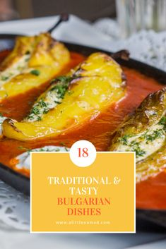 18 Tasty & Traditional Bulgarian Food Favorites everyone should try when visiting Bulgaria - suitable for vegetarians and meat-eaters alike! Eastern European Recipes, European Cuisine, Middle Eastern Recipes, Bulgarian Recipes, Turkish Recipes, Ethnic Recipes, Bulgaria Food, European Breakfast, West African Food