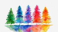 Watercolor Trees Painting - DIY Easy Loose Watercolor Art For Beginners Watercolor Trees Painting - Watercolor Pencil Art, Tree Watercolor Painting, Easy Watercolor, Watercolor Cards, Watercolor Landscape, Diy Painting, Tree Painting Easy, Encaustic Painting, Painting Flowers