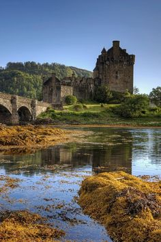Eilean Donan Castle in the Highlands, United Kingdom Oh The Places You'll Go, Places To Travel, Places To Visit, Wonderful Places, Beautiful Places, Eilean Donan, Scottish Castles, Castle Ruins, Exotic Places