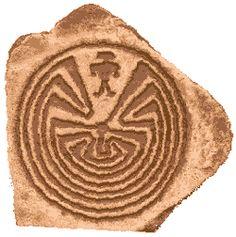 """Labyrinth Maze:  Hopi """"Man in the Maze"""" #labyrinth."""
