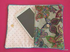 Housse pour tablette, couture, tissu, diy, i pad, pochette, grame