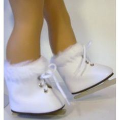 White Fur Ice Skates, Doll Shoes for 18 Inch Dolls, and American Girl (Toy)  http://www.amazon.com/dp/B004VSUH64/?tag=goandtalk-20  B004VSUH64