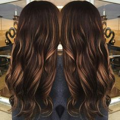 Dark chocolate caramel highlights