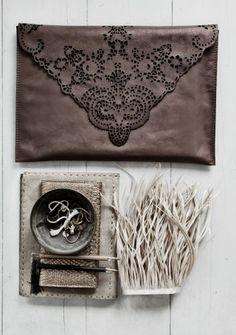 LW Leather Lace laptop clutch bag.