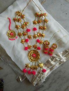 Trendy Alloy moti Jewellery Set - All About India Jewelry, Ethnic Jewelry, Jewelry Sets, Jewelry Making, Wedding Accessories, Wedding Jewelry, Flower Jewellery For Mehndi, Gota Patti Jewellery, Preparing For Marriage