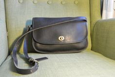 Vintage Coach City Bag in Black by TheAdventurersLegacy on Etsy